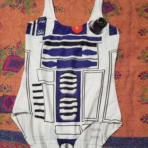 R2D2 one piece bathing suit. Never worn